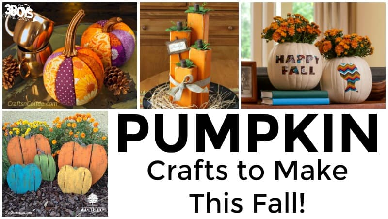 Pumpkin Crafts to Make in Fall