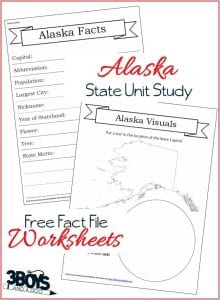 Alaska State Fact File Worksheets