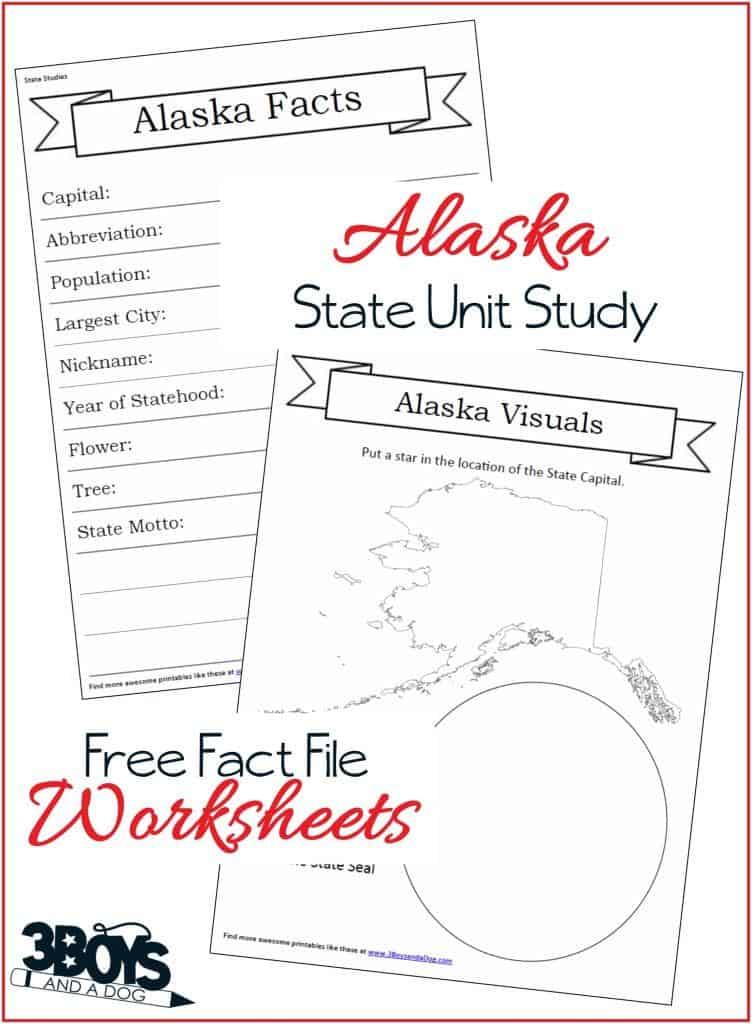 Alaska State Fact File Worksheets
