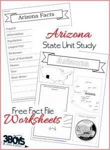 Arizona State Fact File Worksheets
