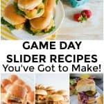 Sliders Recipes for Game Day