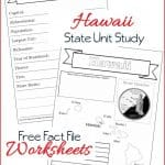 Hawaii State Fact File Worksheets