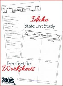 Idaho State Fact Files