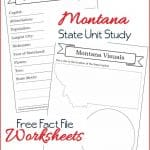 Montana State Fact File Worksheets