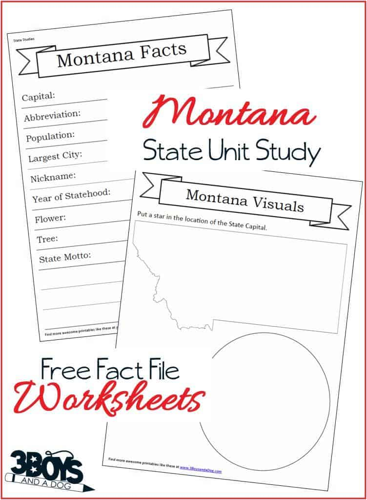 Montana Fact File Worksheets