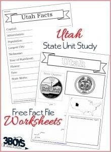 Utah State Fact Files