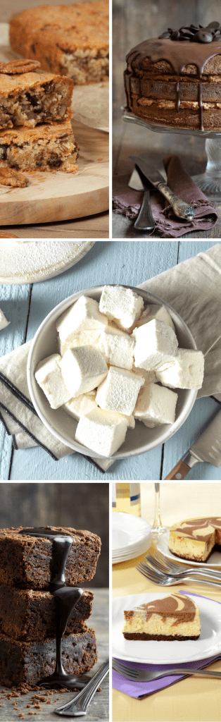 delicious dessert recipes: cakes, cookies, brownies, pies, candies, and more