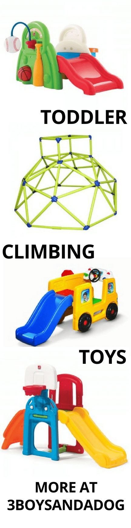 These toddler climbing toys are kid-tested and mother approved from great companies like Step2, Little Tykes, & Fisher Price!  These toys for toddlers who climb are perfect for indoor and outdoor climbing.