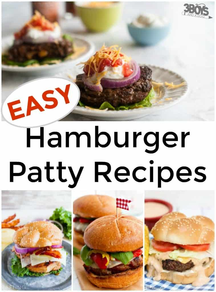 Easy Hamburger Patty Recipes