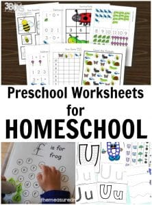 Homeschooling Preschool Worksheets