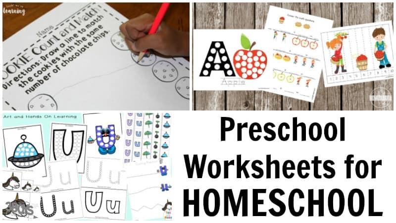 Homeschooling Preschool Worksheets for Kids