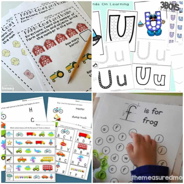Homeschooling Preschool Worksheets to Print