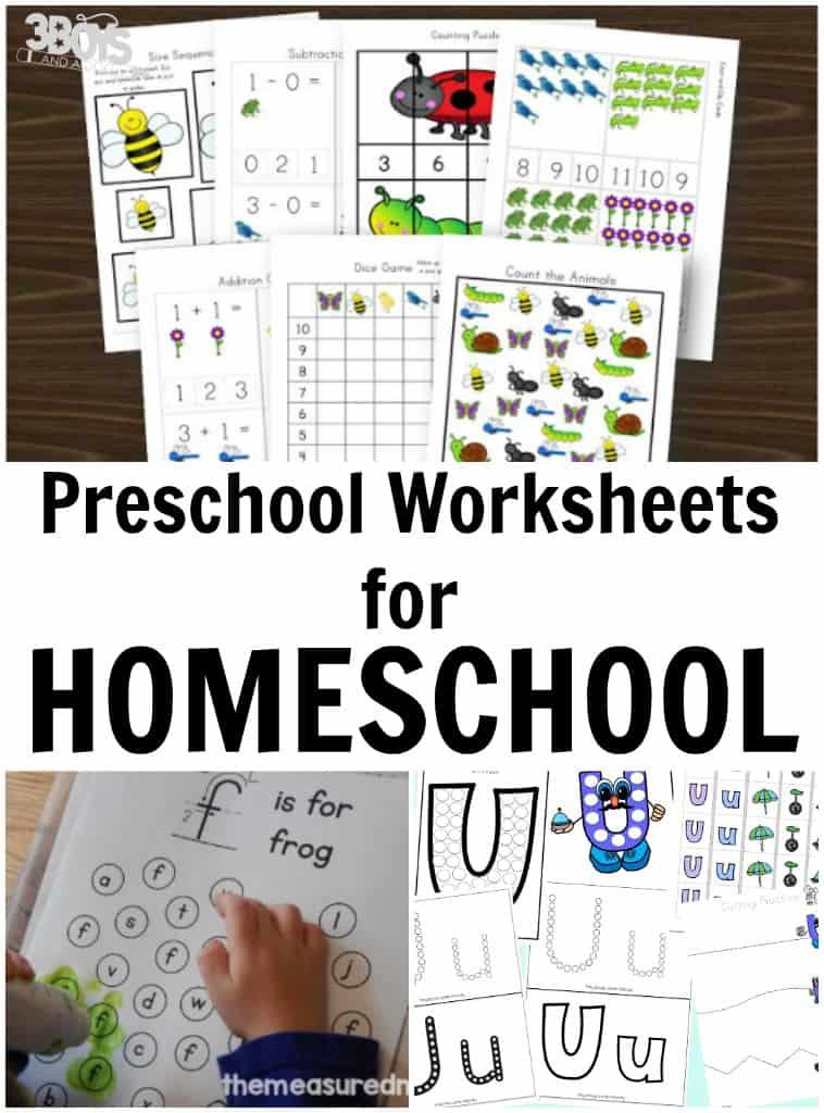 Homeschooling Preschool Worksheets