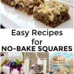 Super Easy No Bake Squares Recipes