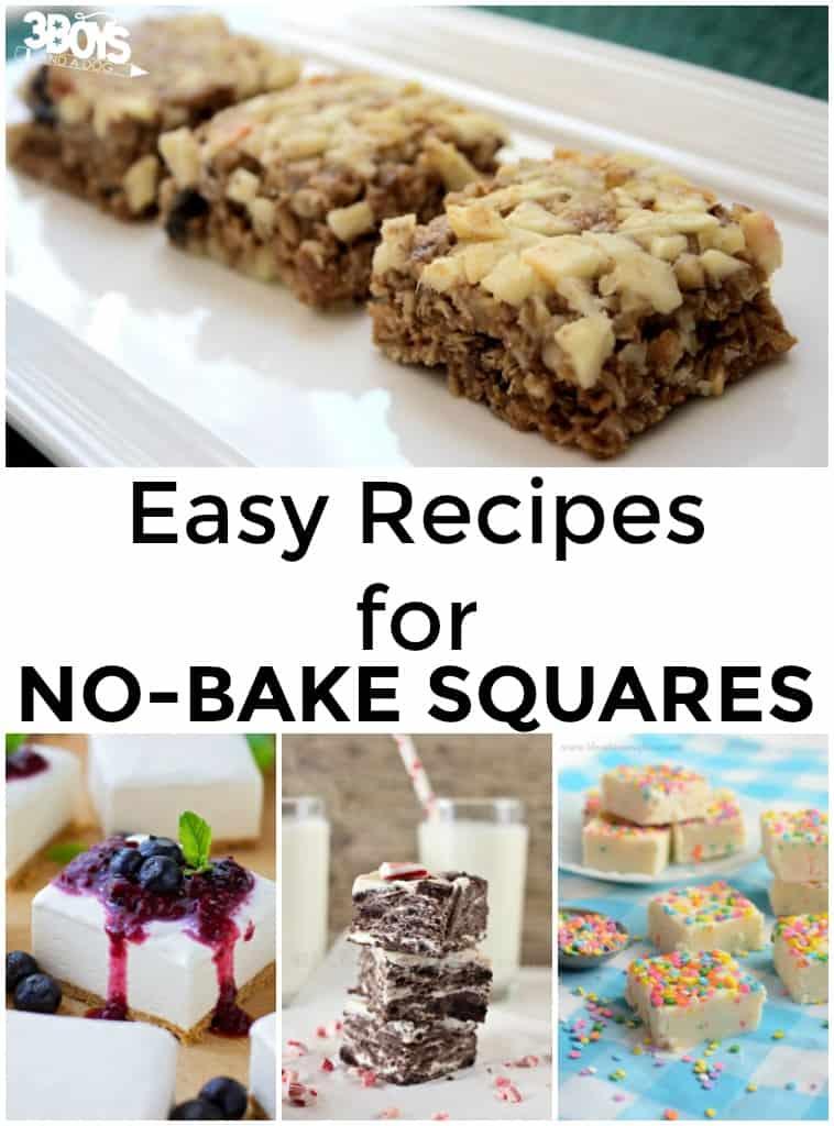 No Bake Squares Recipes