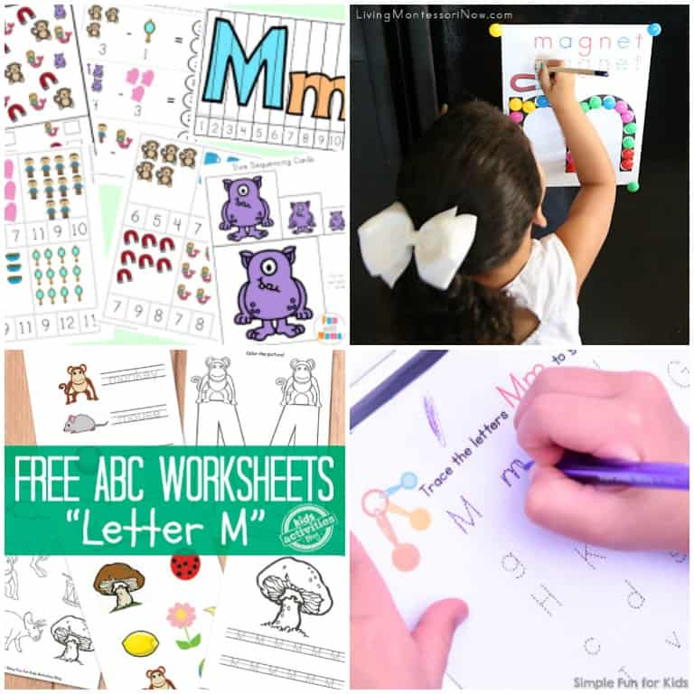 Printable Letter M Worksheets and Activities