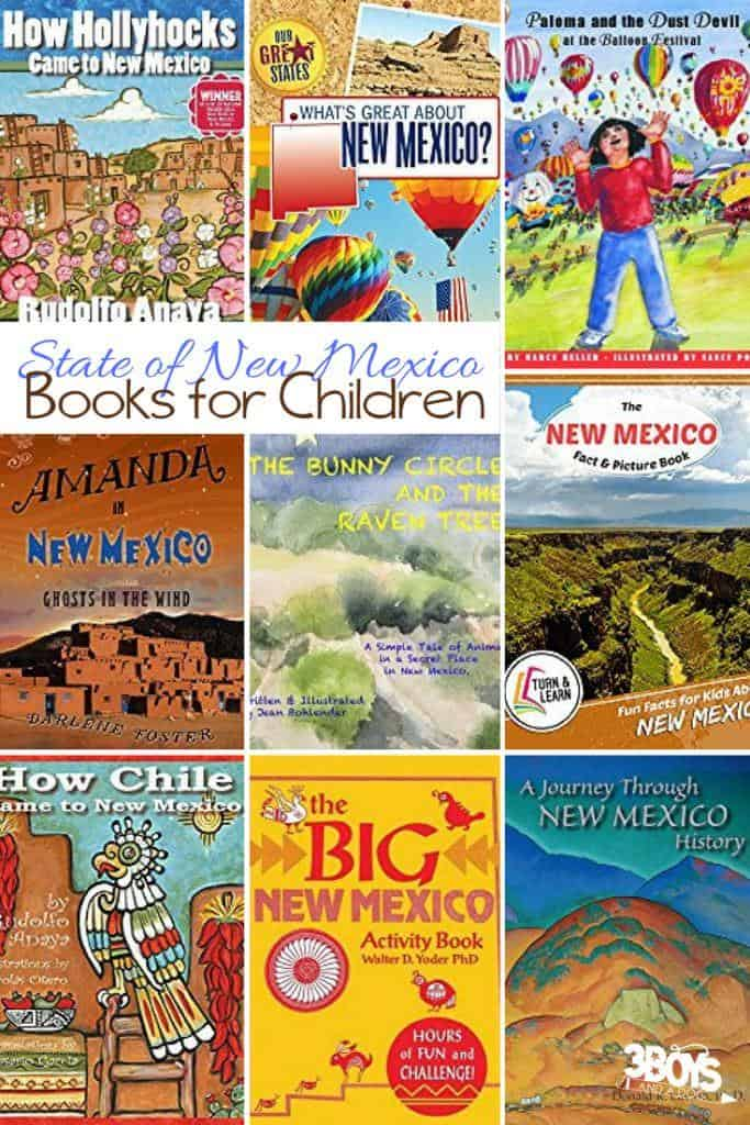 These New Mexico State Books for Kids are sure to please and fascinate your children as they learn all about the state of New Mexico.