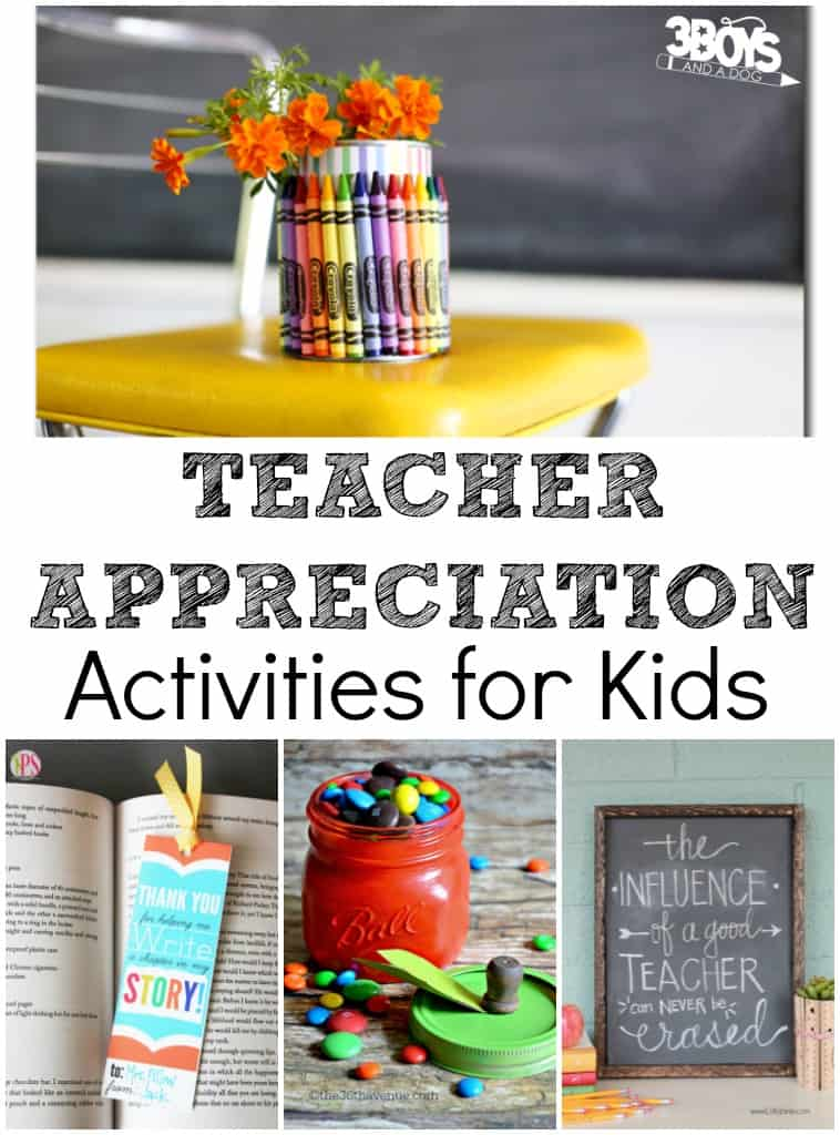 Teacher Appreciation Kid Activities
