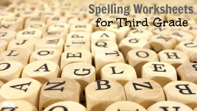 3rd Grade Spelling Worksheets for Kids
