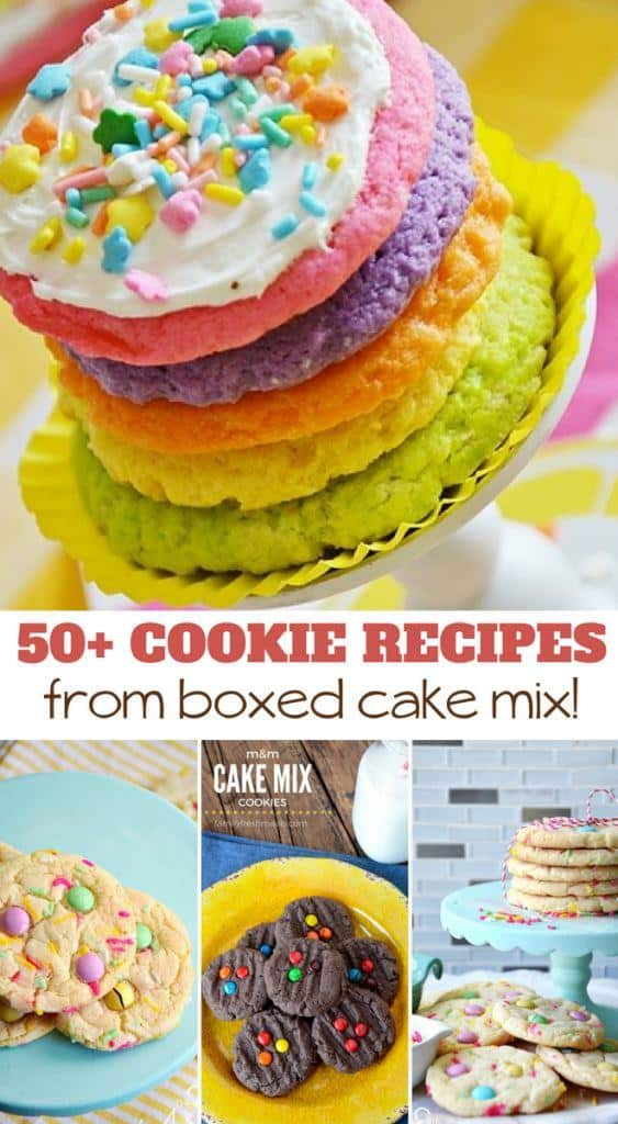 50+ cookie recipes from boxed cake mix