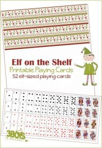 52 printable elf on the shelf playing cards