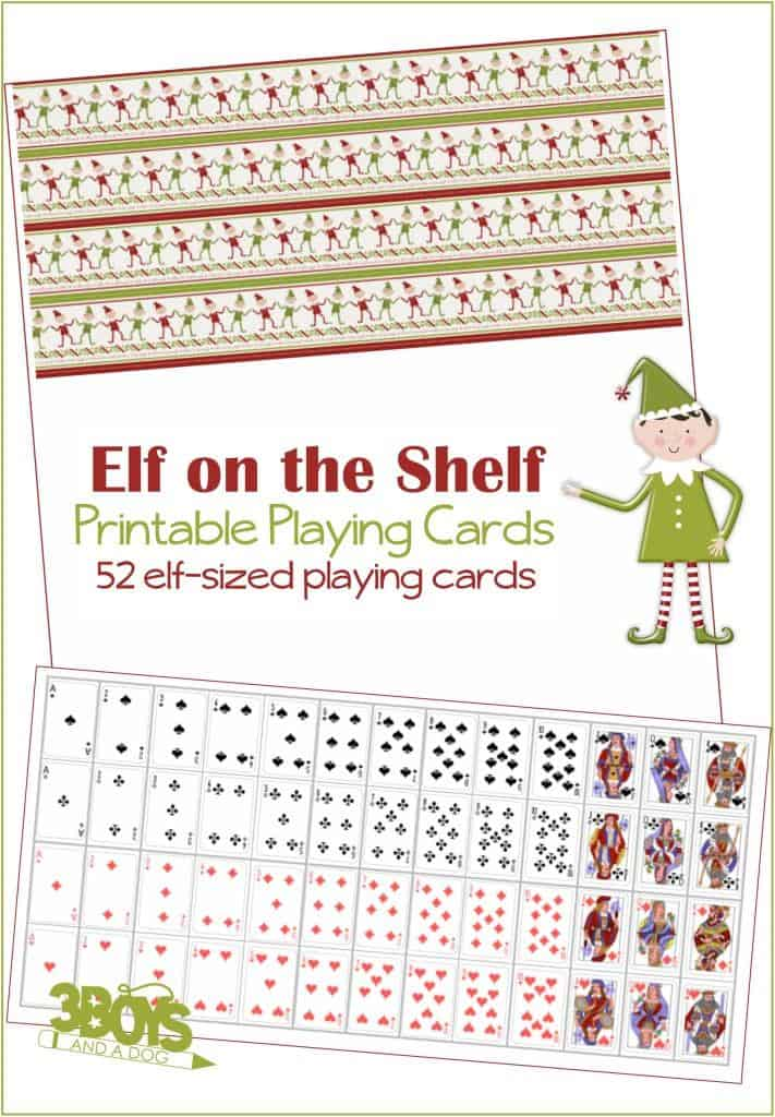 photo relating to Playing Card Printable titled Elf upon the Shelf Enjoying Playing cards 3 Boys and a Pet