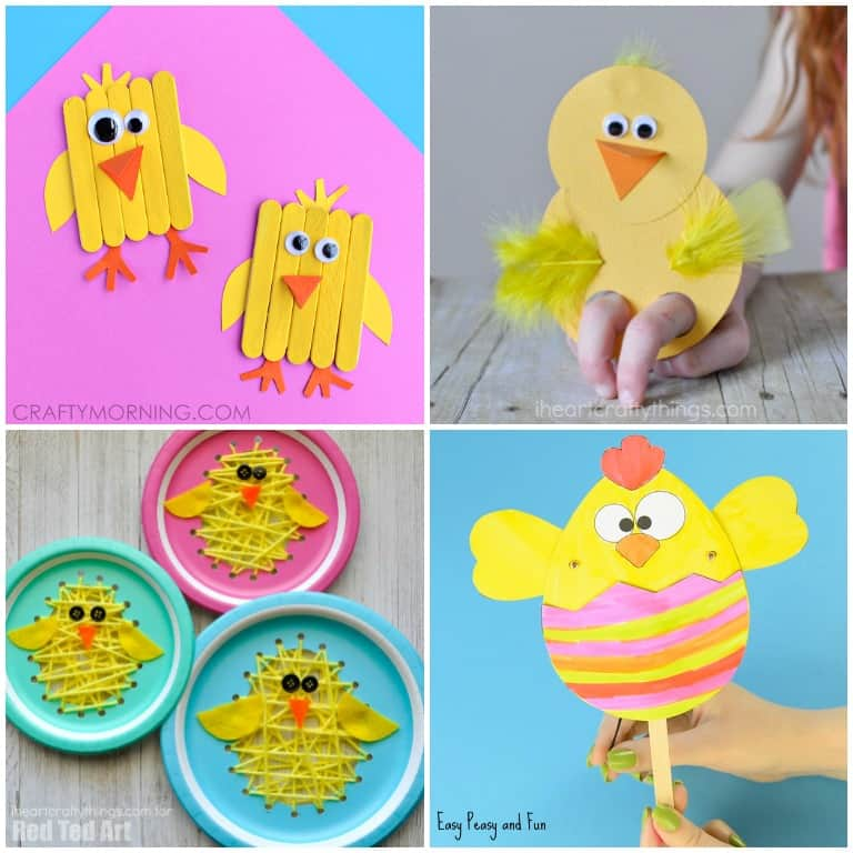 Cute Chick Activities and Crafts for Kids