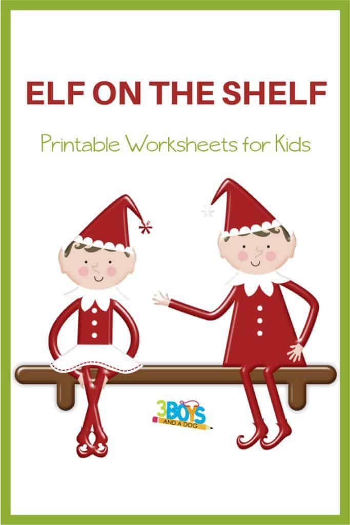 Elf on the Shelf Worksheets and Activities