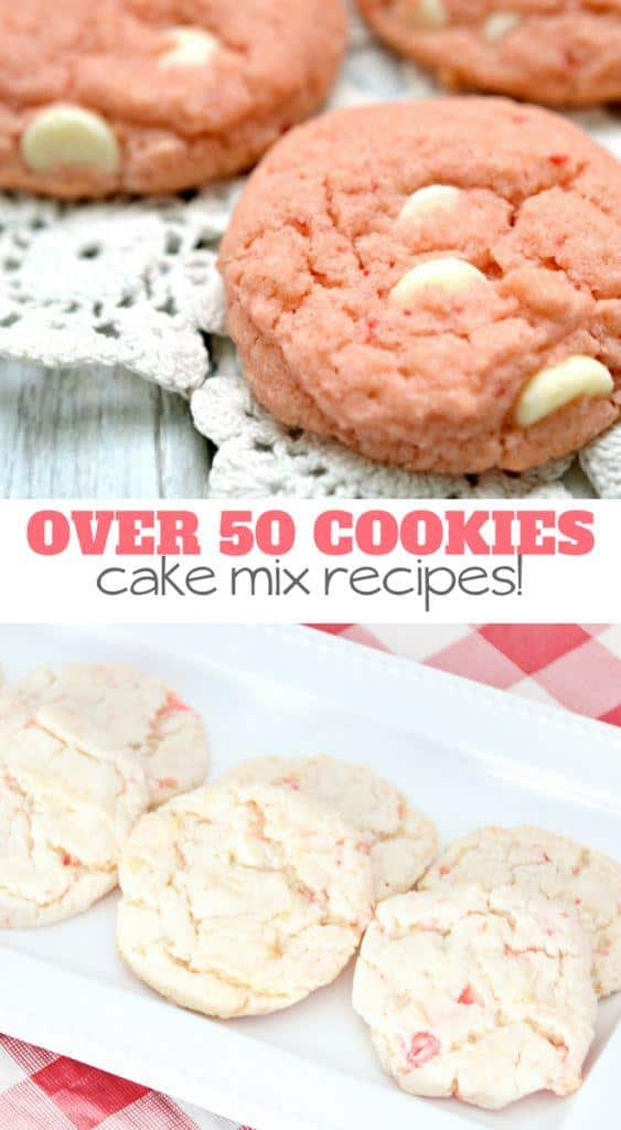 over 50 cookies cake mix recipes