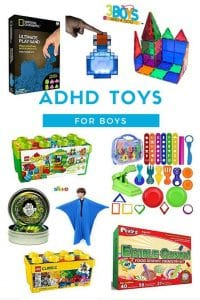This list of Awesome Toys for Boys with ADHD is tried a true by my guys (now ages 11 and 18).  From toddler toys to toys for older children, this list is sure to help your ADHD guys!