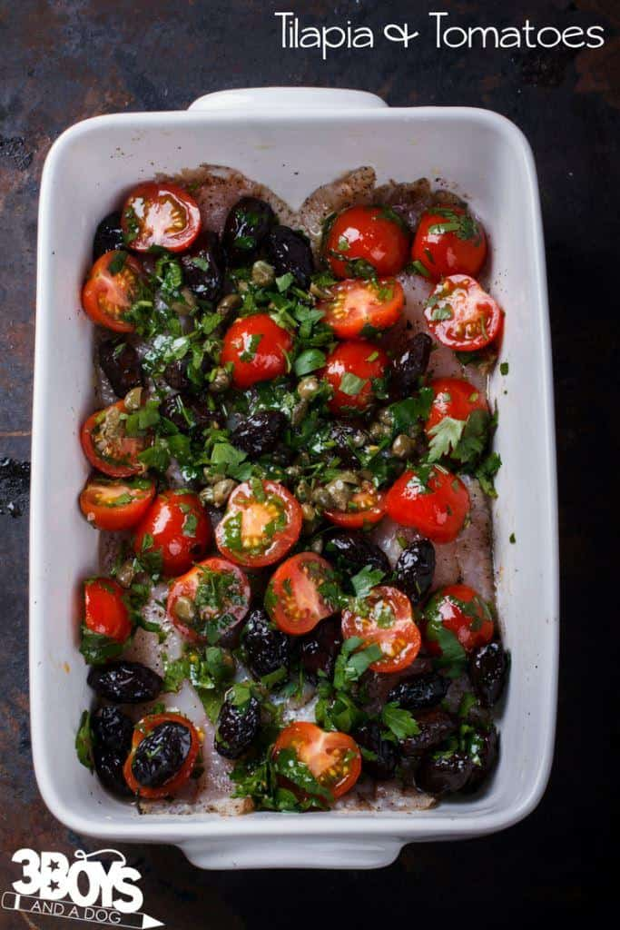 Baked Tilapia with Tomatoes Recipe