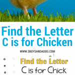 C is for Chicken homeschooling freebies