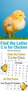 C is for Chicken homeschooling freebies