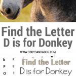 D is for Donkey homeschooling freebies (1)