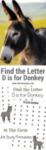 D is for Donkey homeschooling freebies (1)