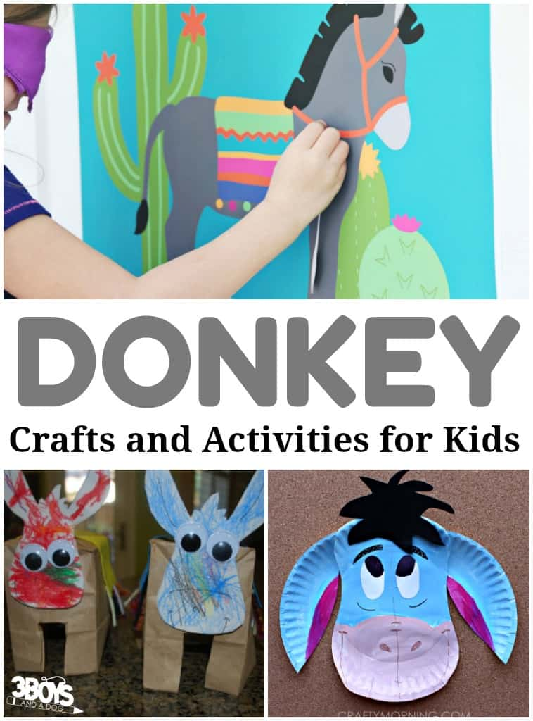 Donkey Crafts and Activities for Kids