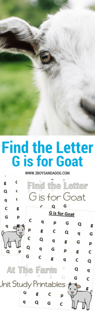 G is for Goat homeschooling freebies