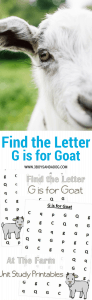 G is for Goat homeschooling freebies