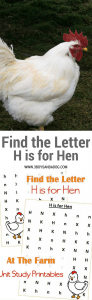 H is for Hen homeschooling freebies