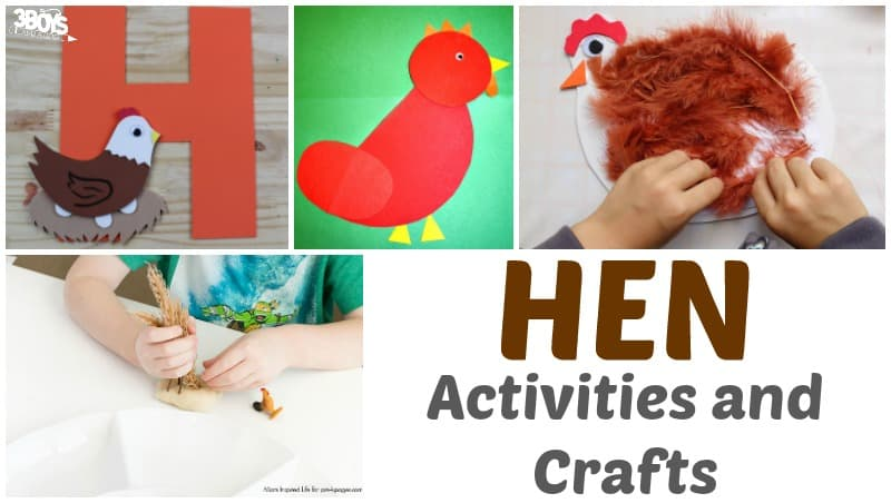 Hen Crafts and Activities for Kids