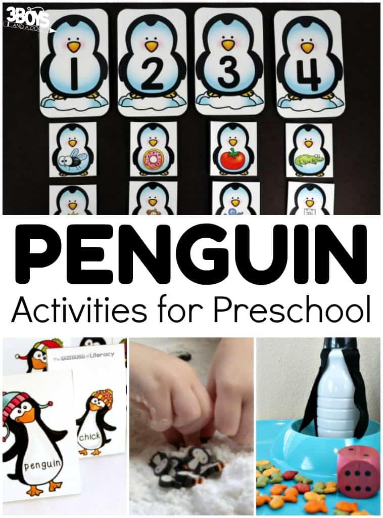 Over 20 Penguin Activities for Preschool