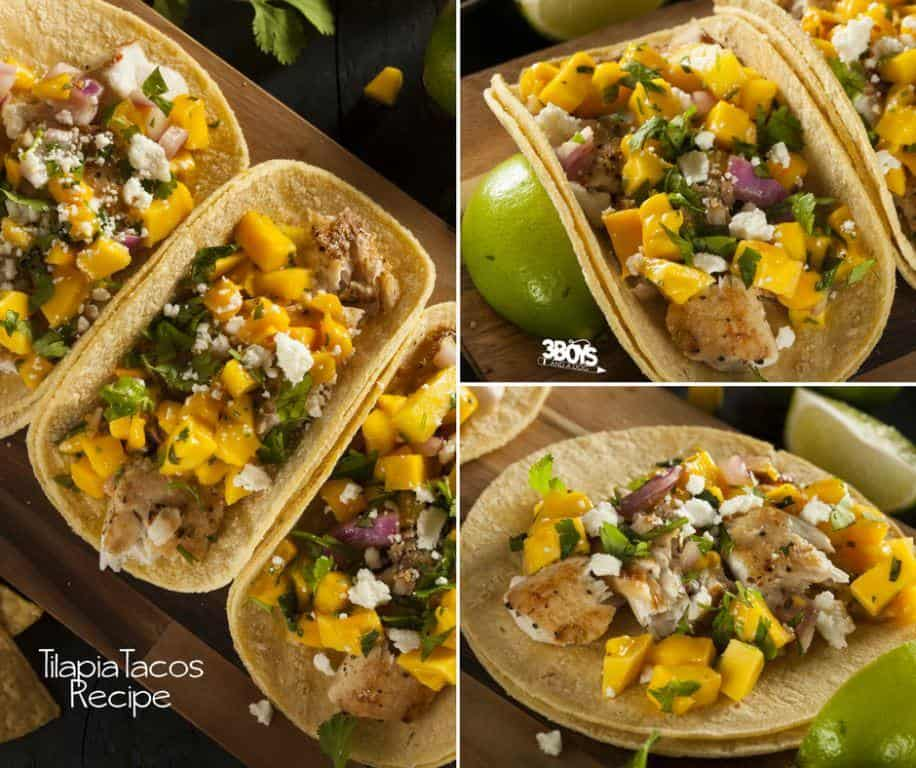Tilapia Fish Tacos with Mango