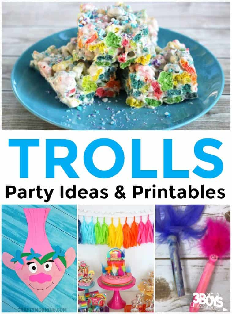 Trolls Party Ideas and Printables