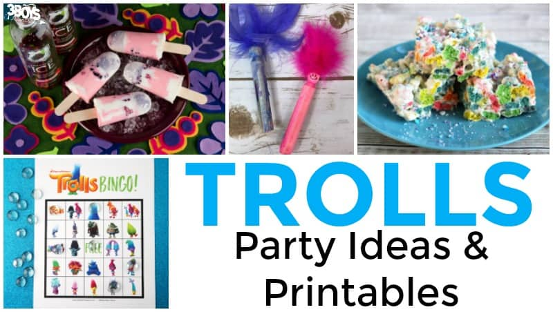 Trolls Party Ideas and Printables for Kids