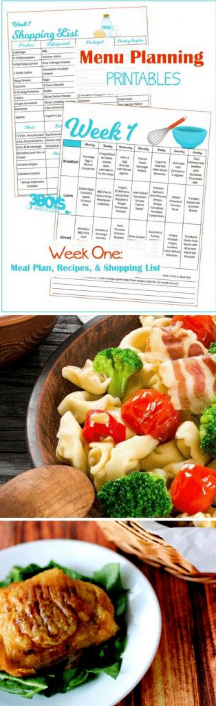 Week One Menu Planning Resources