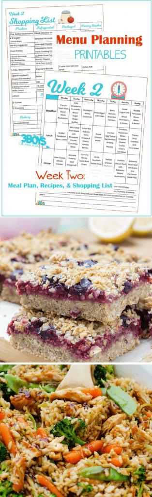 Week Two Menu Planning Resources