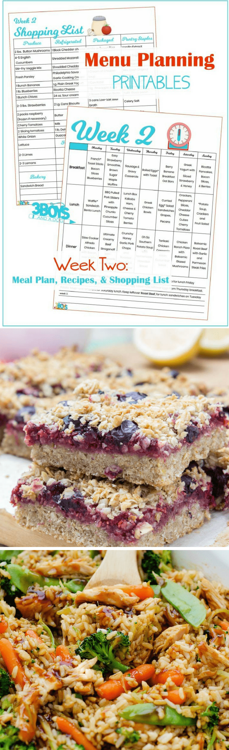 The complete menu plan for the second week of the year.  You can find links to recipes, a printable shopping list, and a printable menu planner.