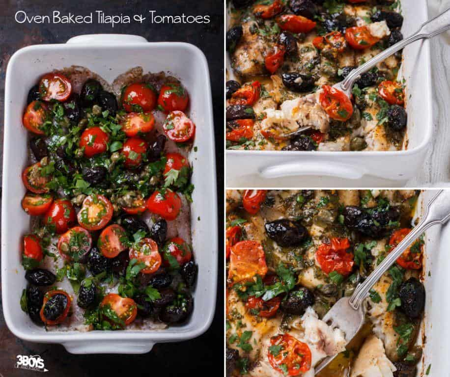 oven baked tilapia with tomatoes and olives