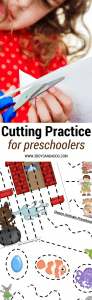 Cutting Practice for Preschoolers to improve fine motor and scissor skills
