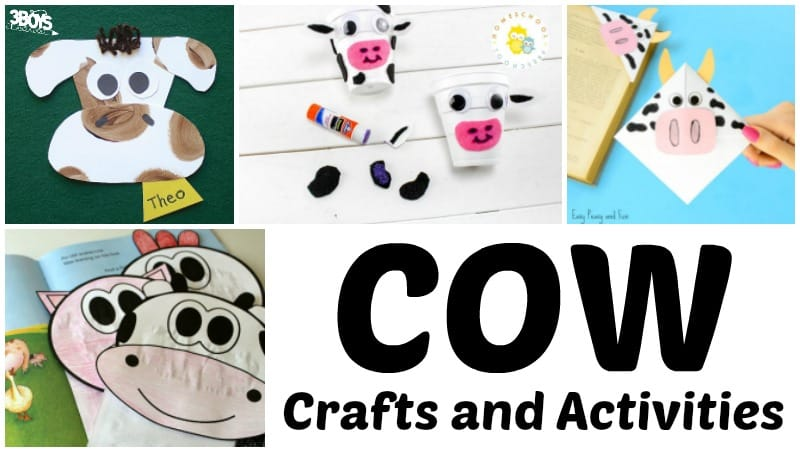 Holstein Cow Crafts and Activities for Kids